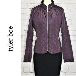 TYLER BOE Quilted Purple Zip Up Jacket, Size M